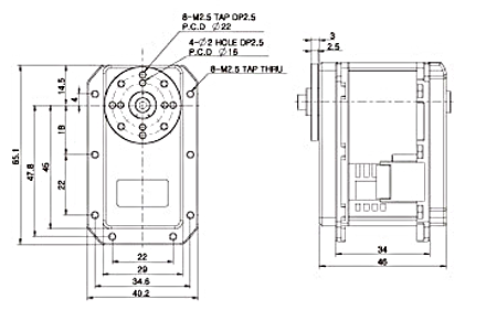 Dimensions du MX-106