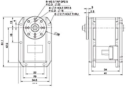 Dimensions du MX-64