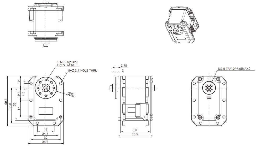 Dimensions du RX-28