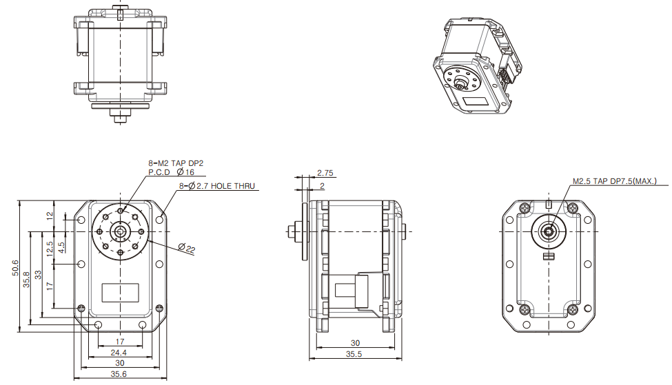 Dimensions du RX-24F