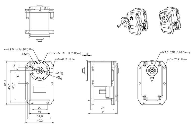 Dimensions du RX-64