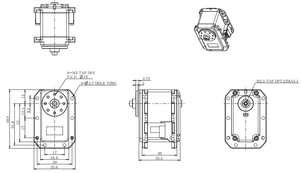 Dimensions du MX-28
